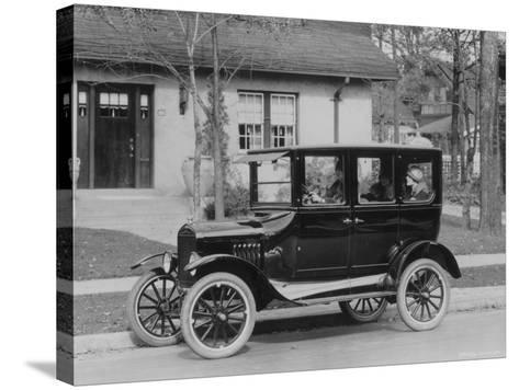 Model T Ford-Three Lions-Stretched Canvas Print