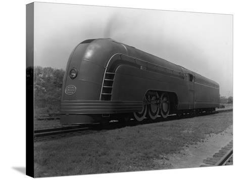 Mercury Railroad Car-A. E. French-Stretched Canvas Print