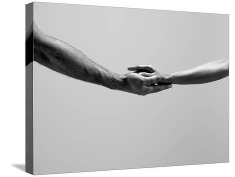 Female and Male Hands-Jonathan Knowles-Stretched Canvas Print