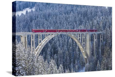 Langwies Viaduct, Switzerland-Werner Dieterich-Stretched Canvas Print