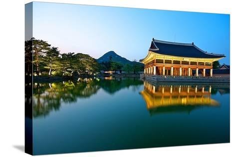Gyeonghoeru Pavilion, Gyeongbokgung Palace, Seoul-Robert Koehler-Stretched Canvas Print