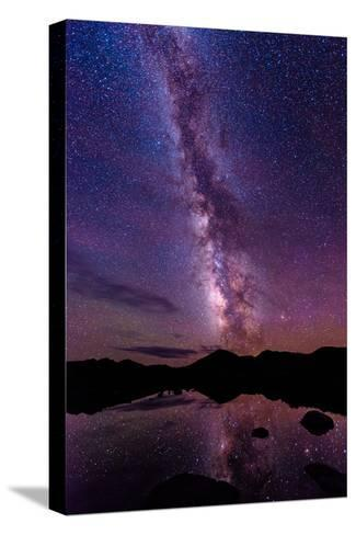 Milky Way Reflections-Photo by Matt Payne of Portland, Oregon-Stretched Canvas Print