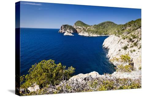 Ibiza Coastline at Cap Nono-Jorg Greuel-Stretched Canvas Print