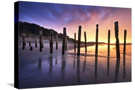 The Old Jetty Remains, St Clair Beach, Dunedin-Artie Photography (Artie Ng)-Stretched Canvas Print