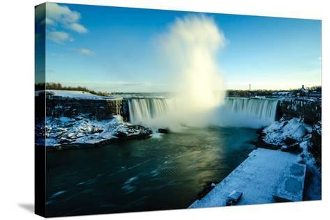 Snowy Niagara-Naeem Jaffer-Stretched Canvas Print