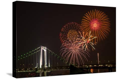 Tokyo Bay Grand Fireworks Festival 2013-I love Photo and Apple.-Stretched Canvas Print