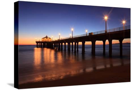 Manhattan Beach Pier-Jumper-Stretched Canvas Print