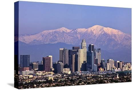 Cityscape, Los Angeles-kenny hung photography-Stretched Canvas Print