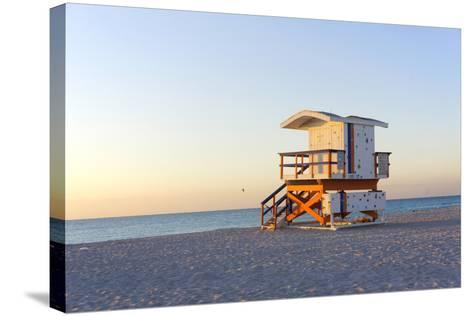 Early Morning on Beach-photo by dasar-Stretched Canvas Print