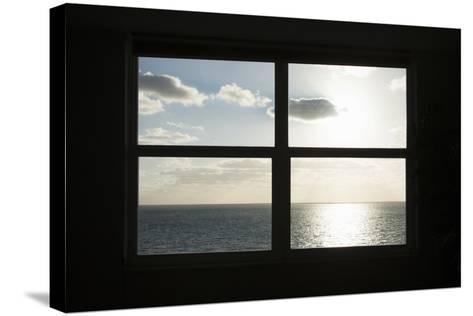 Miami Beach. Art Deco Window over the Ocean.-Buena Vista Images-Stretched Canvas Print