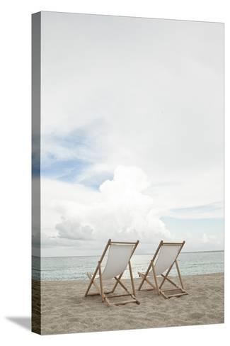 Two Empty Chairs on the Beach.-MoMo Productions-Stretched Canvas Print