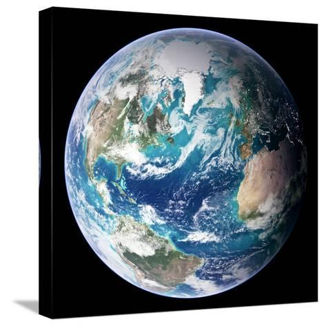 Full Earth, Close-Up--Stretched Canvas Print