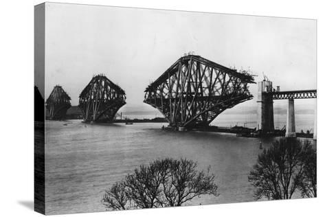 Forth Bridge-Hulton Archive-Stretched Canvas Print