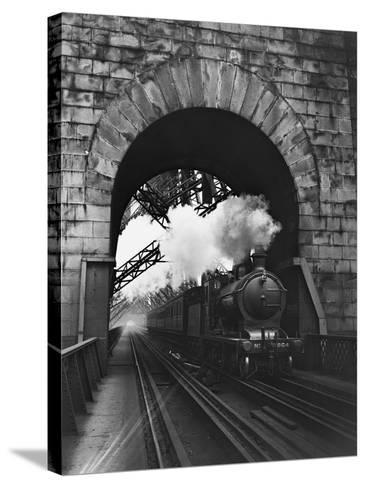 The Forth Bridge-Central Press-Stretched Canvas Print