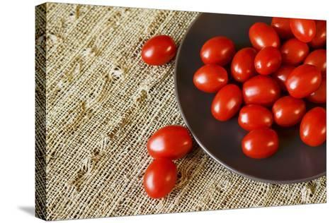 Red Grape Tomatoes-Natalia Ganelin-Stretched Canvas Print