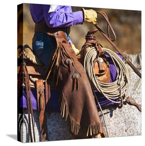 Cowgirl-Tetra Images-Stretched Canvas Print