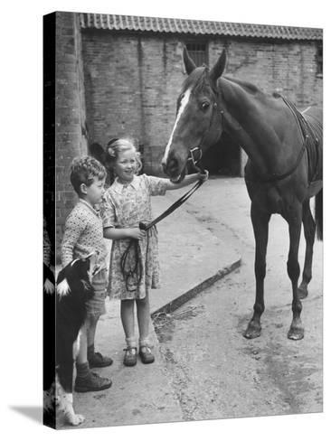 Child's Horse-Raymond Kleboe-Stretched Canvas Print