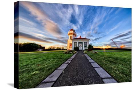 Mukilteo Lighthouse and Ferry, Washington-Michael Riffle-Stretched Canvas Print