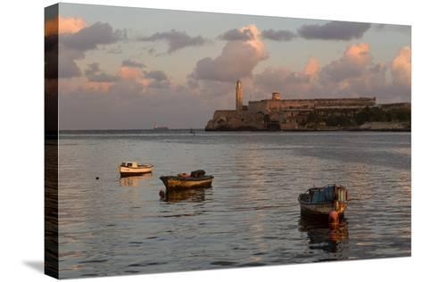 Fishing Boats and El Morro Lighthouse at Sunrise-Adam Jones-Stretched Canvas Print