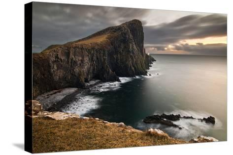Neist Point-Image by Peter Ribbeck-Stretched Canvas Print