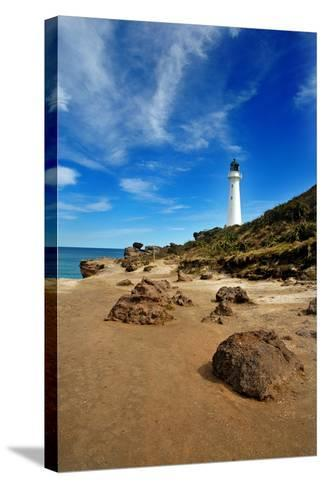 Castle Point-photography by Sarah Corbett-Stretched Canvas Print