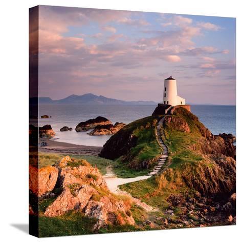Llanddwyn Lighthouse-Osian Rees-Stretched Canvas Print