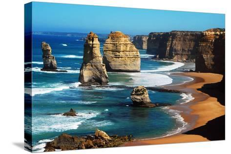 Apostles on Great Ocean Road, Melbourne-Tristan Brown-Stretched Canvas Print