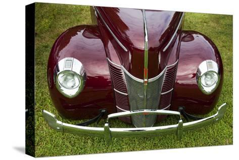Vintage Car, Close-Up (Front Grille)-Henri Silberman-Stretched Canvas Print