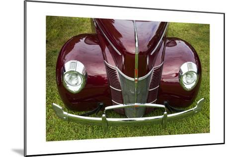 Vintage Car, Close-Up (Front Grille)-Henri Silberman-Mounted Photographic Print