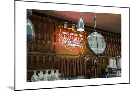 Katz's Deli Salamis with Scale (New York Landmark Eatery)-Henri Silberman-Mounted Photographic Print