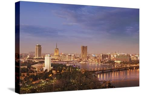 Cairo Skyline-Visions Of Our Land-Stretched Canvas Print