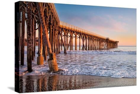 San Simeon Pier-Betty Wiley-Stretched Canvas Print