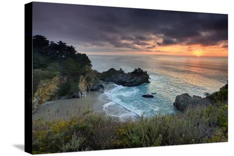 Winter Sunset Mcway Cove-Don Smith-Stretched Canvas Print