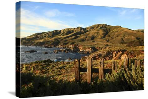 Rolling Hills next to Ocean-George Diebold-Stretched Canvas Print