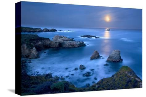 Dawn Moonset at Garrpata State Park-Don Smith-Stretched Canvas Print