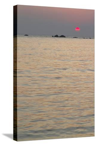 Sunset on the Ocean, Goa, India-James Gritz-Stretched Canvas Print