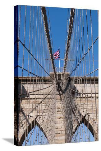 Upward Image of Brooklyn Bridge in New York-burak pekakcan-Stretched Canvas Print