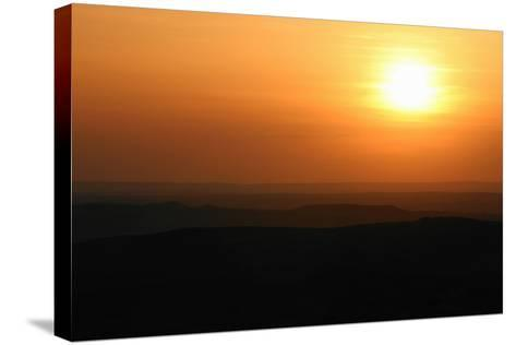 Sunset over Rural Landscape-Cultura Science/Jason Persoff Stormdoctor-Stretched Canvas Print