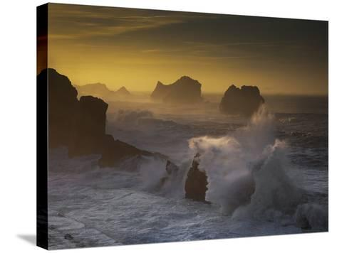 Sunset in Arnia-Martin Zalba-Stretched Canvas Print