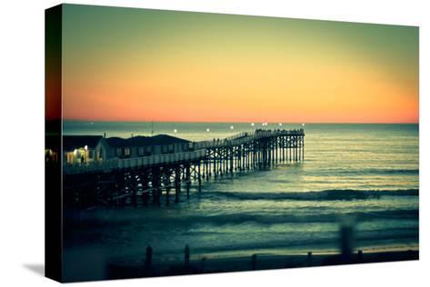 San Diego Sunset-Reny Preussker-Stretched Canvas Print
