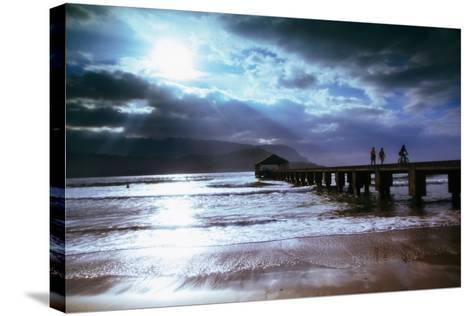 Hanalei Bay Pier.-Linda Ching-Stretched Canvas Print