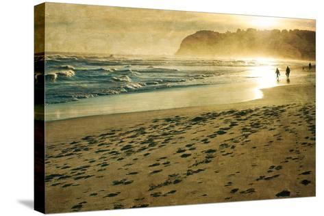 Evening Walk on Beach-Jill Ferry-Stretched Canvas Print