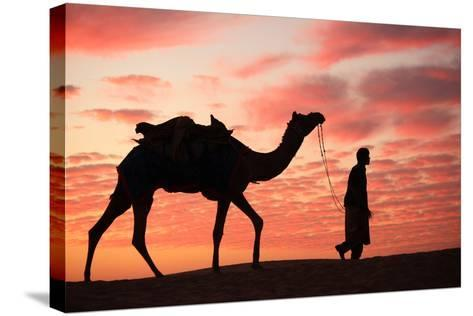 Sunset in Jaisalmer-Milind Torney-Stretched Canvas Print