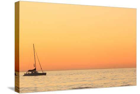 Sunset Cruise at Cape Town-Tony Hawthorne-Stretched Canvas Print