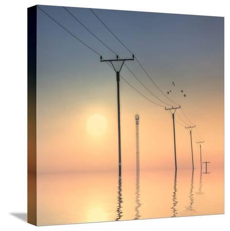 Telephone Post at Sunset-kurtmartin-Stretched Canvas Print