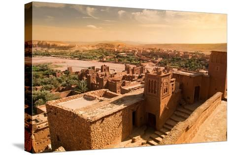 Mud Constructions in Ait Benhaddou.-Artur Debat-Stretched Canvas Print