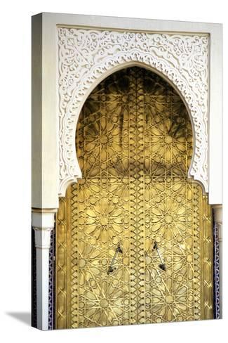 Golden Door and an Arch Way, Casablanca, Morocco-Hisham Ibrahim-Stretched Canvas Print