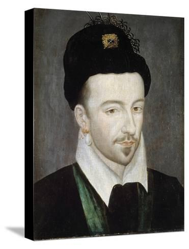 Portrait of King Henri III - Attributed to Jean Ducourt--Stretched Canvas Print