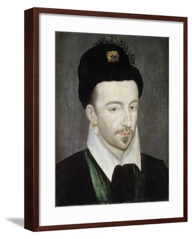 Portrait of King Henri III - Attributed to Jean Ducourt--Framed Art Print