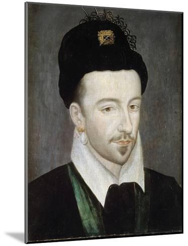 Portrait of King Henri III - Attributed to Jean Ducourt--Mounted Giclee Print